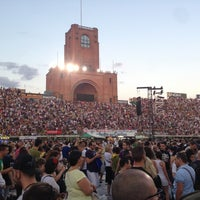 Photo taken at Stadio Renato Dall'Ara by Henrique B. on 6/22/2013
