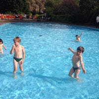 Photo taken at Priory Park Paddling Pool by András N. on 9/15/2014