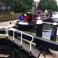 Photo taken at Old Ford Lock (Regent's Canal) by András N. on 8/17/2013