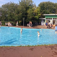 Photo taken at Priory Park Paddling Pool by András N. on 9/18/2014
