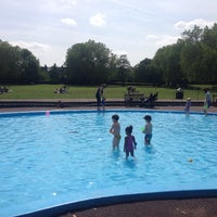 Photo taken at Priory Park Paddling Pool by András N. on 6/18/2015