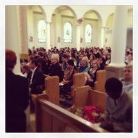 Photo taken at Church of the Good Shepherd by Jon Paul P. on 3/31/2013