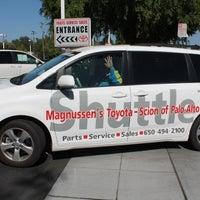Photo taken at Magnussen's Toyota of Palo Alto by Sebrina S. on 4/2/2014