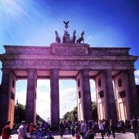 Photo taken at Brandenburg Gate by Polina S. on 5/9/2013