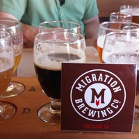 Photo taken at Migration Brewing by Dean H. on 9/12/2014