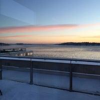 Photo taken at Gåshaga Brygga (L) by Vilma on 1/22/2016