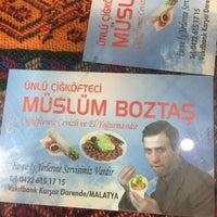 Photo taken at Meşhur Çiğ Köfteci Müslüm Boztaş by Emrah Ç. on 9/8/2016