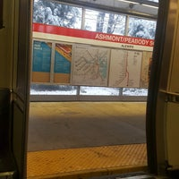 Photo taken at MBTA Ashmont/Peabody Square Station by Erica T. on 12/9/2017