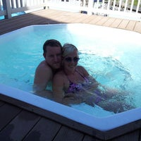 Photo taken at Jiminy Peak hot tub / Pool by Cheri' K. on 6/9/2013