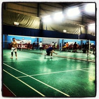 Photo taken at New Vision Badminton Academy by Eyrique G. on 12/21/2012