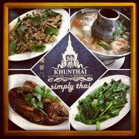 Photo taken at Khunthai Authentic Thai Restaurant by Eyrique G. on 5/20/2013