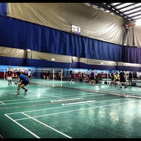 Photo taken at New Vision Badminton Academy by Eyrique G. on 12/7/2012