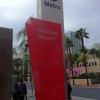 Photo taken at Pershing Square Metro Station by LT B. on 1/24/2013