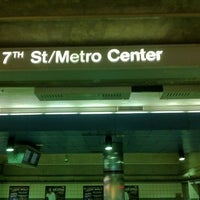 Photo taken at 7th St/Metro Center (Julian Dixon) Metro Station by LT B. on 2/28/2013