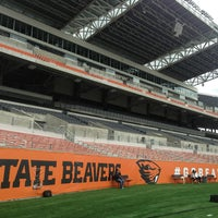 Photo taken at Reser Stadium by Dory on 9/6/2013