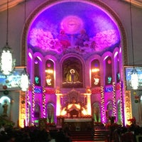 Photo taken at National Shrine of Our Lady of Lourdes by Zharie G. on 12/24/2012