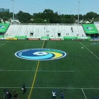 Photo taken at NY Cosmos at Shuart Stadium by Dylan B. on 6/8/2014
