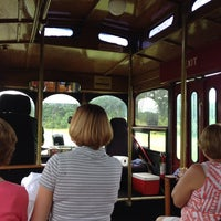 Photo taken at Charleston Tea Plantation Trolley by Louise B. on 8/4/2014