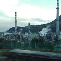 Photo taken at Refinería Petronor by David G. on 3/7/2016