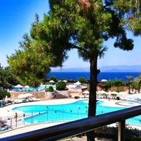 Photo taken at Hilton Bodrum Türkbükü Resort & Spa by Nes Q. on 7/3/2013