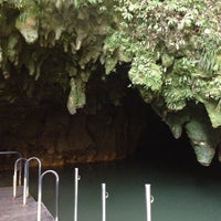Photo taken at Waitomo Glowworm Caves by Ree on 1/15/2013
