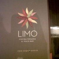 Photo taken at LIMO Cocina Peruana & Pisco Bar by Rodrigo G. on 1/21/2013