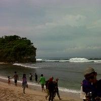 Photo taken at Pantai Indrayanti by Yeni L. on 4/7/2013