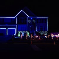 Photo taken at Edwards Landing Light Show by Heather W. on 12/24/2013