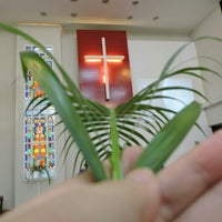 Photo taken at Luther House Chapel by Jane T. on 6/15/2014