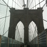 Photo taken at Brooklyn Bridge Promenade by Jeff G. on 12/8/2012