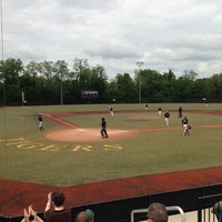 Photo taken at St Xavier Baseball Field by Eric T. on 5/18/2013