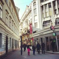 Photo taken at Deák Ferenc tér by aleksander on 4/8/2013