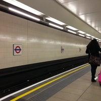 Photo taken at Heathrow Airport Terminals 1, 2 & 3 London Underground Station by Rhammel A. on 11/29/2012