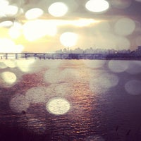 Photo taken at Han River by Shin C. on 4/2/2013