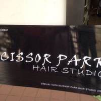 Photo taken at Scissor Park Hair Studio by Park P. on 3/27/2014