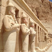 Photo taken at Mortuary Temple of Hatshepsut by Kelly D. on 4/8/2013