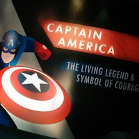 Photo taken at Captain America: The Living Legend and Symbol of Courage by James I. on 3/6/2014