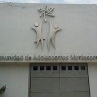 Photo taken at Comunidad de Adolescentes Montessori by Mauricio V. on 5/14/2013