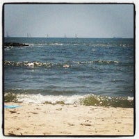 Photo taken at Point Lookout Beach (Town Park) by Caitlin I. on 6/15/2013