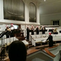 Photo taken at First Church of Oberlin by Sharon P. on 12/16/2015
