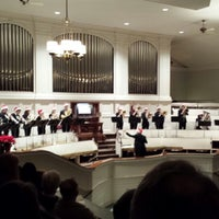 Photo taken at First Church of Oberlin by Sharon P. on 12/17/2013