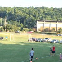 Photo taken at Briarwood Soccer Fields by Christine B. on 9/8/2014