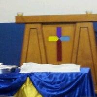 Photo taken at Igreja do Evangelho Quadrangular - Jd. Tremembé by Lucy A. on 11/4/2012
