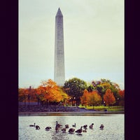 Photo taken at Constitution Gardens by angela n. on 10/29/2012