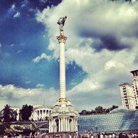 Снимок сделан в Майдан Незалежности пользователем phiksu 6/22/2013