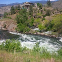 Photo taken at Ok Falls, BC by Meshell C. on 5/9/2013
