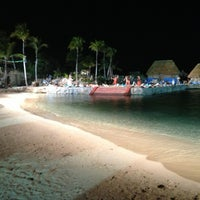 Photo taken at Playa Xcaret by Will R. on 5/20/2013