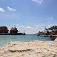 Photo taken at Playa Xcaret by Will R. on 5/25/2013