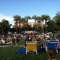 Photo taken at Playa Vista Concert Park by Sarah R. on 7/15/2013