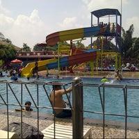 Photo taken at Taman Wisata Pasir Putih Sawangan by Sukria C. on 5/5/2013